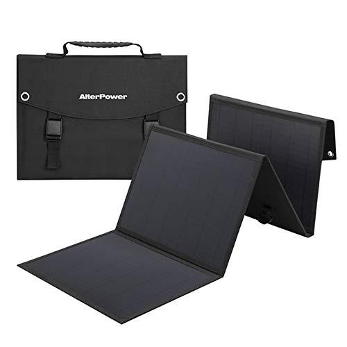 HJGHY Cargador Solar Portátil Plegable de 60 W, Interfaz USB DC 5 V Uso de la Placa de Carga Solar Rápida para Fuente de Alimentación Portátil Al Aire Libre para Carga de Emergencia,60W