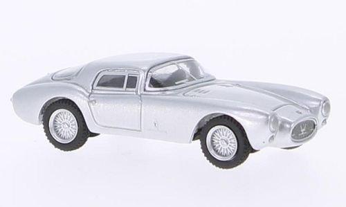 Maserati A6GCS Berlinetta, silber, 1953, Modellauto, Fertigmodell, BoS-Models 1:87