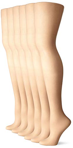 No Nonsense Women's Sheer To Waist Toe Pantyhose 6-Pack, Nude, B