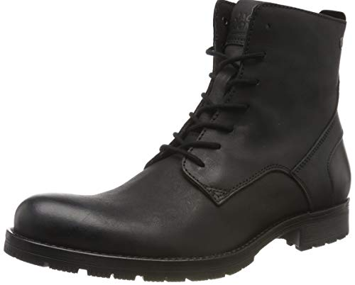 JACK & JONES Herren JFWORCA Leather 19 STS Chukka Boots, Grau (Anthracite), 42 EU