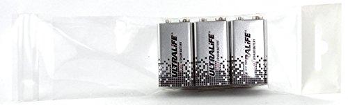 Ultralife Lithium Batterie (9 Volt, E-Block, U9VL, U9VL-J-P, 1200mAh) im 3er Pack