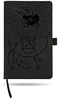 Rico Industries Louisville Basketball Laser Engraved Black Notepad with Elastic Band