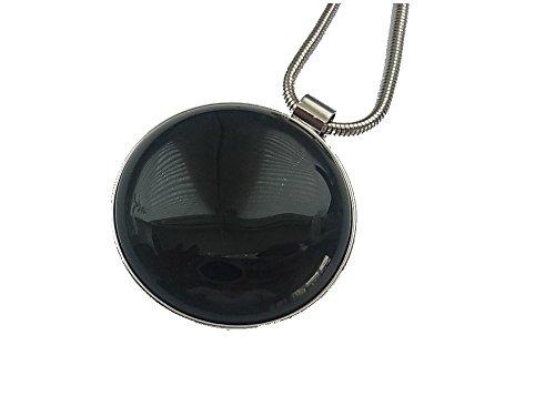 Cadena Collar Larga Cadena con colgante piedras preciosas Medallion Amuleto Negra Agathe