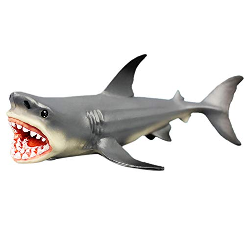 MMLC Megalodon Hai Aquarium Ornament, Carcharodon Megalodon Fische Tank Dekoration, Robustem Kunstharz Sicher Alle Fische & Aquatic Pets die Meg Spielzeug Kinder & Home Dekorationen (A)