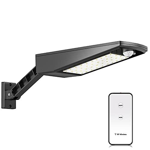 2021 aggiornato Faretto LED da esterno con Sensore Crepuscolare Luce Solare esterno, 1000 lumen, IP7 Impermeabile Esterno Luci di Sicurezza,lampade solari a led da esterno, lampione solare led esterno