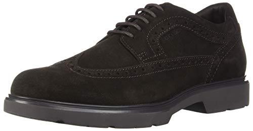 Geox U Arrall B, Zapatos de Cordones Brogue para Hombre, (Dk Coffee C6024), 43 EU