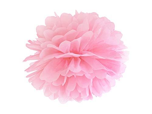 PartyDeco - Pompon Mixte Adulte 35 cm Ø Rose 35 cm