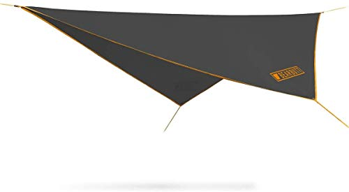 Rain Fly Bear Butt - Easy Set Up Portable Hammock Tarp Shelter - Made of Quality Lightweight Waterproof Tent Polyester - Perfect Cover While Backpacking Outdoors Camping and Hiking (Orange)