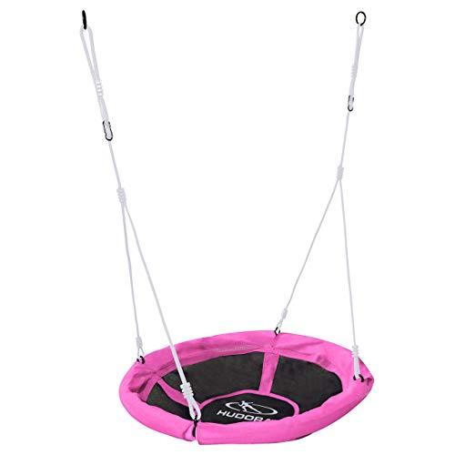 HUDORA 72147 Nestschaukel 90 cm, pink-Garten-Schaukel-Hängeschaukel bis 100 kg belastbar-Outdoor & Indoor
