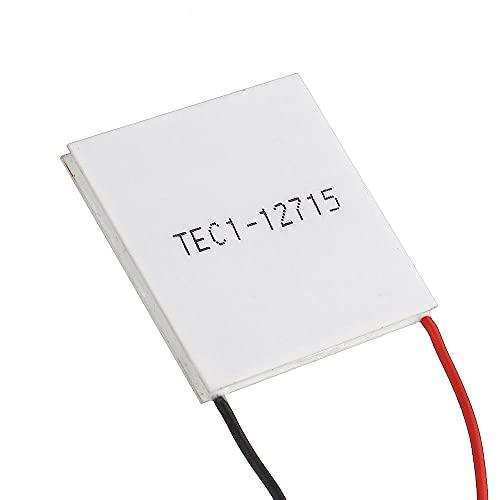 Módulo electrónico Cooler Thermoeléctrico Peltier 40 * 40 mm 12V Peltier Refrigeración Módulo de refrigeración Semiconductor Hoja de refrigeración TEC1-12715 Equipo electrónico de alta precisión