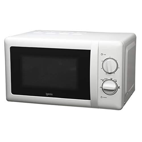 Igenix IG2071 Solo forno a microonde manuale, 5 livelli di potenza e funzione di sbrinamento, timer 30 minuti, 700 W, 20 litri, bianco
