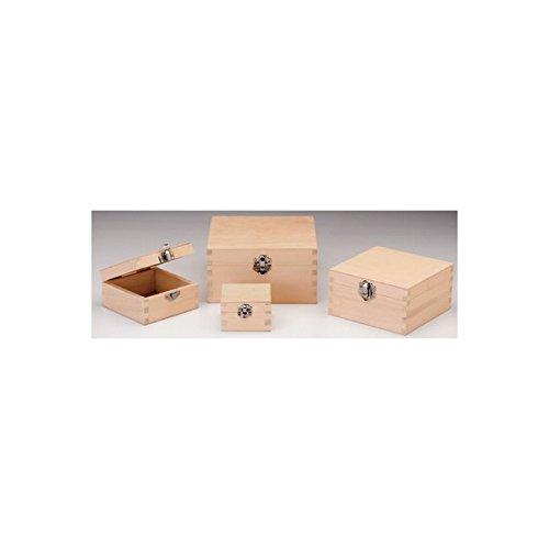 GLOREX houten kist, hout, naturel, 13 x 13 x 7 cm