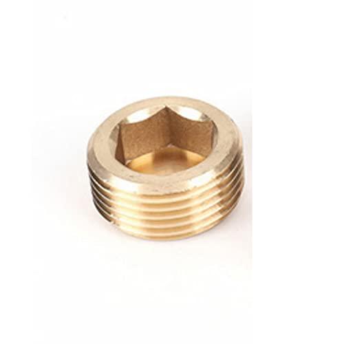 Zkenyao-Adaptadores de manguera 1/8'1/4' 3/8'1/2' 3/4'BSP Hilo masculino HEX HEX CABLE CABLE Tapa de extremo Enchufe Acoplador de cobre Conector Adaptador Tubería de conexión, Fácil de instalar