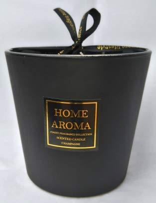 LUXURY AROMA Tres Grand MODELE- Bougie Parfumée Champagne 3mèches -Cire 620gr- Longue Durée de Combustion 120 Heures