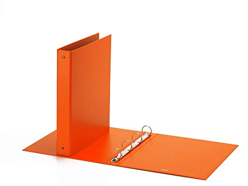 Favorit Raccoglitore, 22 x 30 cm, 4 Anelli Tondi da 30 mm, Arancione