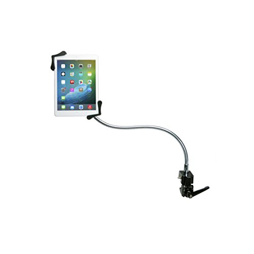 "Tablet Mount, CTA Digital Heavy-Duty Gooseneck Clamp Stand For 7-13"" Tablets, fits iPad 10.2-inch (7th Gen.), iPad Air 3, iPad mini 5, 12.9-inch iPad Pro, iPad Gen 6 & More"