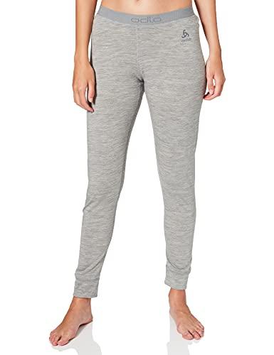 Odlo Damen Unterhose SUW Bottom Pant NATURAL 100% MERINO WARM, grey melange - grey melange, L, 110831