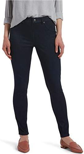 HUE Women s Ultra Soft High Waist Denim Leggings Black Indigo Wash Large product image