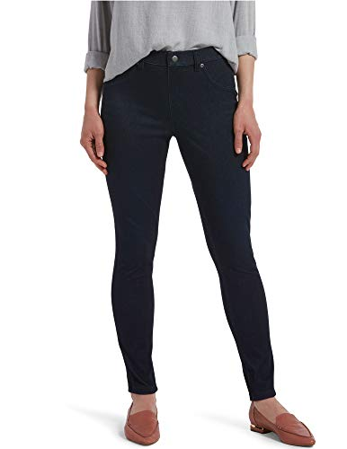 HUE Women's Ultra Soft High Waist Denim Leggings, black Indigo Wash, Large