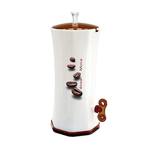 Snips Dosa Moka - Dispensador de Granos de café (plástico), Color Blanco y marrón