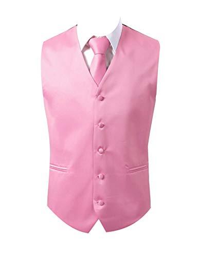 Brand Q 3pc Vest Set-Pink-2XL