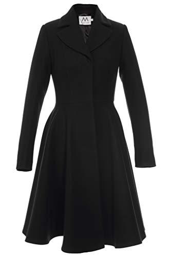 Mattire Midi Damesmantel van wol uitlopende jurken lang lente elegant klassiek