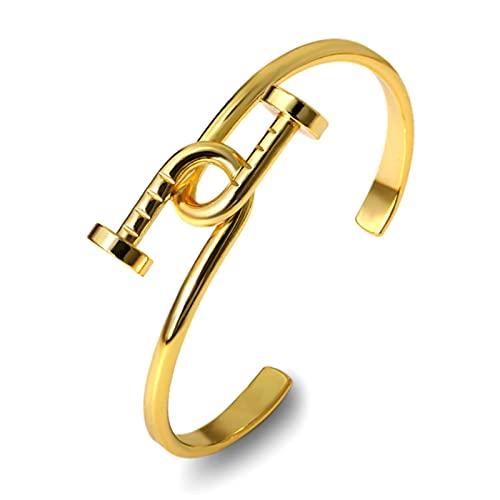 TTGE Luxusmarke Einfache Knoten Nagel Manschette Armreif Silber Rose Gold Edelstahl Armbänder für Frauen Schmuck Bijou Einstellbar