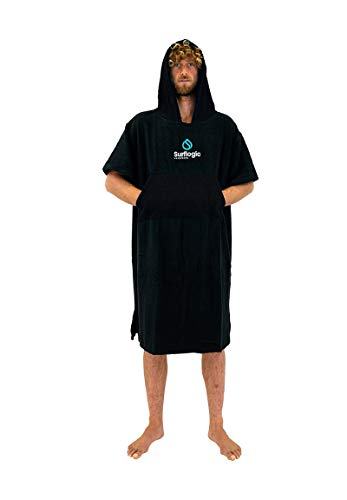 SURF LOGIC Surflogic Poncho/Changing Robe - Black - 59801