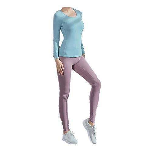 Ropa de las Mujeres Traje de Otoño e Invierno de Secado Rápido Pantalones de Fitness de las Mujeres de Manga de las Mujeres Conjunto