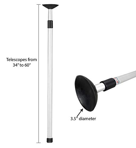 Pactrade Marine Boat Telescoping Cover Support Pole Anodized Aluminium Tube Adjustable from 34'' to 60''