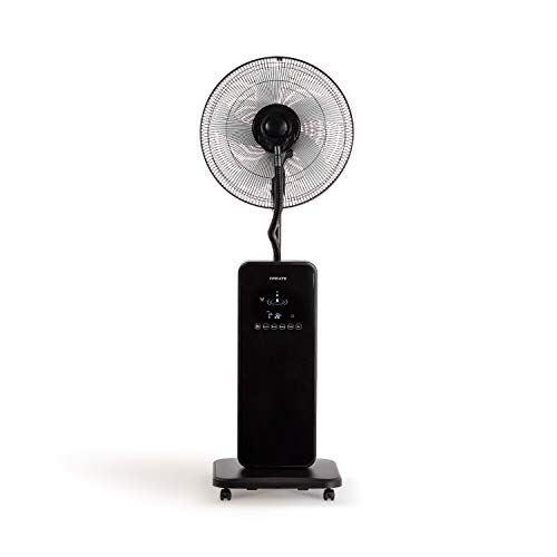 IKOHS Create TROPWIND Touch - Ventilador de Pie Oscilante con Nebulizador de Agua, Mando a Distancia, 2,5 L, 80W, 3 Modos, Nebulizador Oscilante, Oscilación Lateral, Silencioso