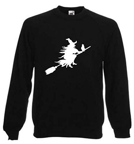 Pullover Hexe auf Besen