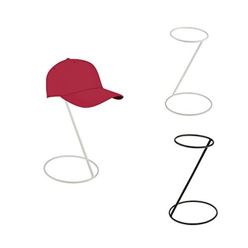 MagiDeal 2x Support Métal à Chapeau Perruques Affichage Titulaire Baseball Sport Cap Stockage Organisateur Stand