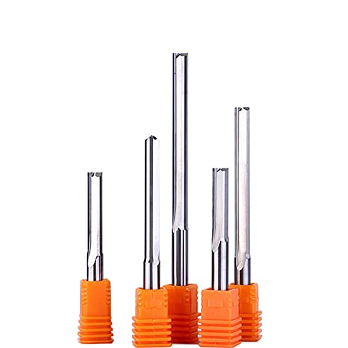 10pcs 3.175mm 4mm 5mm 6mm Two Straight Flute milling Cutter Router Slot bit MDF end Mill for CNC Woodworking Machine Engraving-6x17