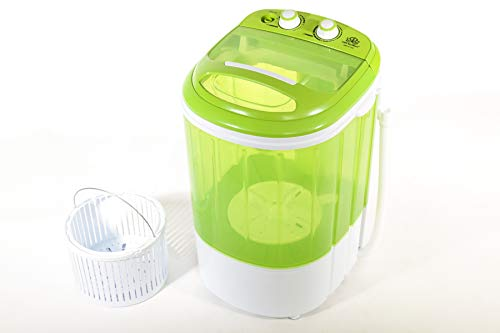 DMR 2.5 kg Inverter Portable Semi Automatic Top-Loading Mini Washing Machine with Dryer Basket (DMR 25-1208, Green)