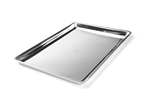Fox Run 4855COM Jelly Roll/Cookie Stainless Steel Baking Pans, 16.25 x 11.25 x 0.75 inches, Metallic