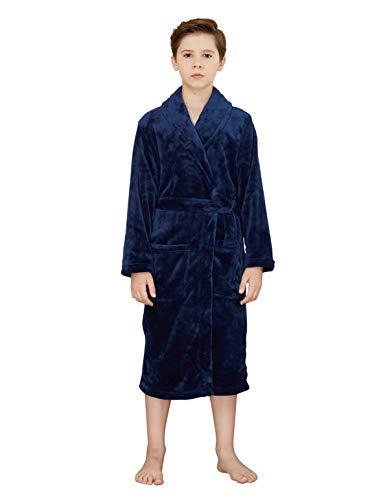 worw Big Boys 'Solid Robes albornoz Robes, Azul
