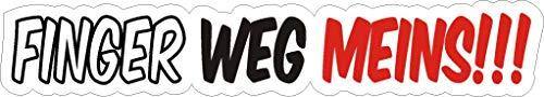 NetSpares 119449554 1 x Aufkleber Finger Weg meins Sticker Autoaufkleber Shocker Motorrad Helm Fun