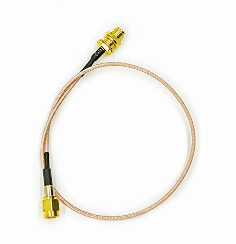Vecys SMA Kabel DAB + WLAN Antennenkabel SMA Buchse zu SMA Stecker Pigtail Kabel RG178 30 cm 11.8 Zoll für 2G 3G 4G-Antennenrouter GSM Bluetooth WLAN LAN WLAN Amateurfunk