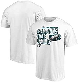 New Officially Licensed Philadelphia Eagles White Super Bowl LII Champions T-Shirt Size Mens S Small