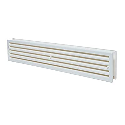 "17.7"" x 3.60"" Bathroom Door Air Vent Grille Two Sided White Ventilation Cover by Europlast"