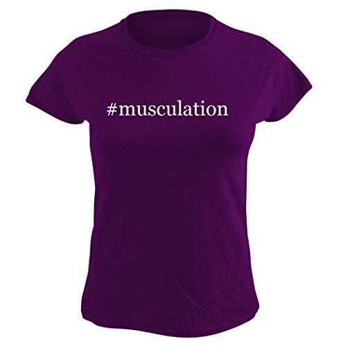 #musculation - Women's Hashtag Graphic T-Shirt, Purple, XXX-Large