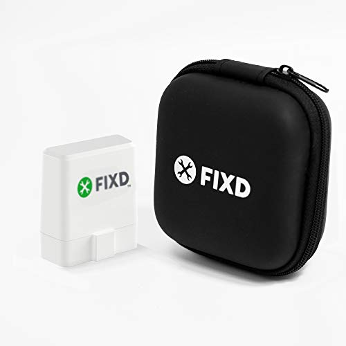 FIXD Summer 2020 Official Sensor Black Case - Safely Store and Protect Your Professional Bluetooth Scan Tool & Code Reader