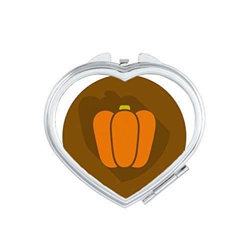 DIYthinker Thanksgiving Day Turquie Aquarelle Motif Coeur Maquillage Compact Miroir de Poche Miroirs Mignon Petit Cadeau Portable à la Main Multicolor