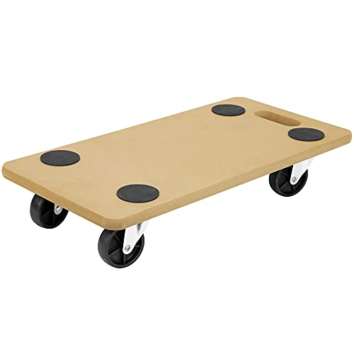 Mount-It! Dolly for Moving - Securely Holds 220 Pounds   Slab Dolly Glides Across Carpet & Hard Wood Without Harming Floors   Moves Items Like Pianos, Couches, Fridges, Boxes   No Assembly Required