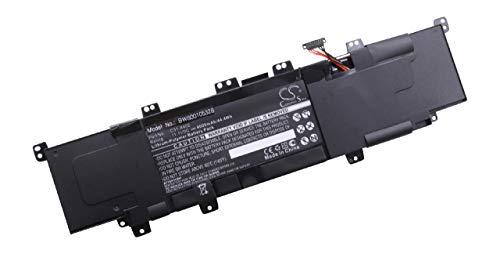 vhbw Li-Polymer Akku 4000mAh (11.1V) schwarz für Notebook, Laptop Asus VivoBook S300, S400, S400C, S400CA, S400E wie C31-X402.