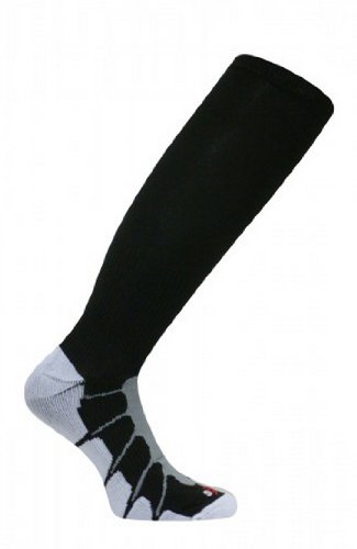Sox Italy, Best Patented Graduated Compression, Silver Drysat increased circultion for any Sport or Activity Black/White, Large - SS1211