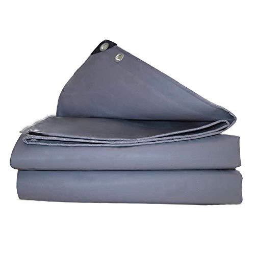 WEIWEI Lona cuadrada de alto rendimiento de 580 g, resistente al agua, con ojales para cubrir muebles de jardín, cubierta de techo de camping y mucho más (color: A, tamaño: 2 y veces; 4 m)