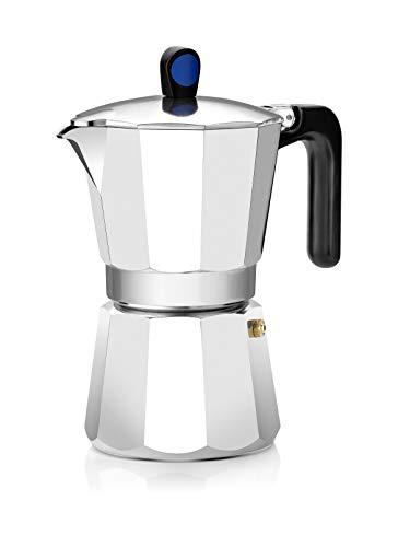 Monix Induction Express - Cafetera italiana inducción, aluminio, capacidad 9 tazas, color plata