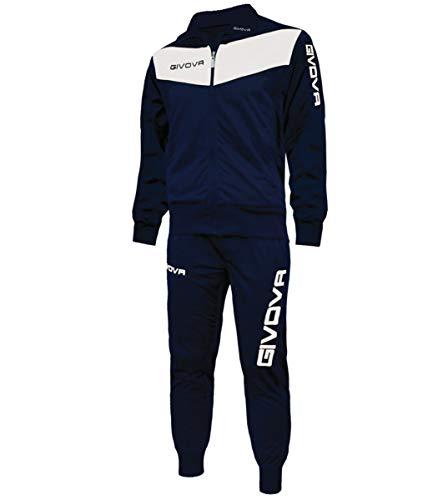 Giosal Completo Tuta Sportiva GIVOVA Uomo Donna Unisex New Visa Relax Sport Allenamento Running Blu/Bianco-XXL